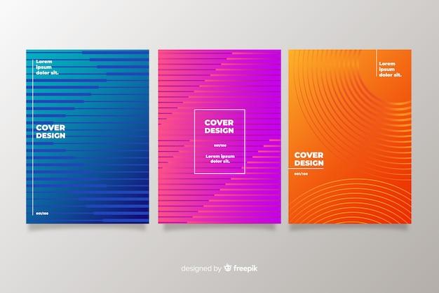 Kolekcja kolorowych okładek streszczenie