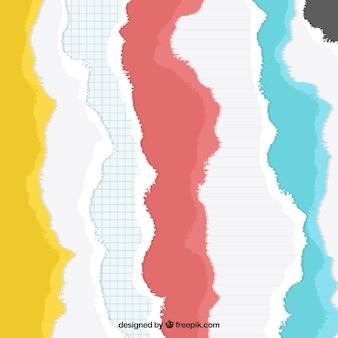 Kolekcja kolorowych papierów podarte