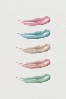 Kolekcja kolorowych pociągnięć pędzla