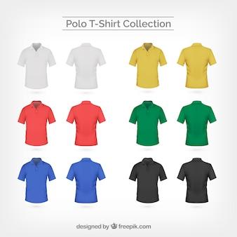 Kolekcja kolorowych polo t-shirt