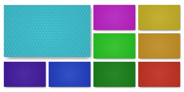 Kolekcja kolorowych tekstur. kolorowy zestaw tekstur z włókna węglowego.