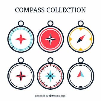 Kolekcja kompasu sześciu
