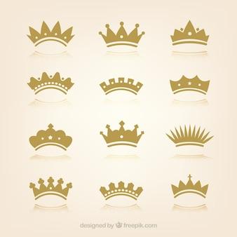 Kolekcja koron w płaskim deseniu