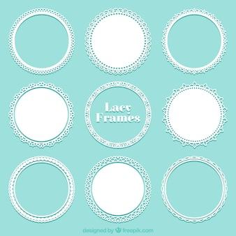 Kolekcja koronki okrągły rama