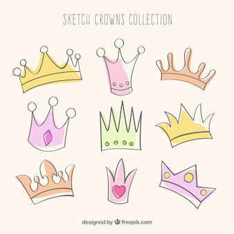 Kolekcja korony sketchy