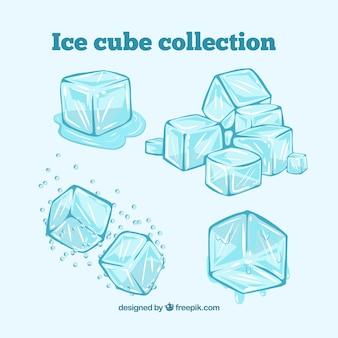 Kolekcja kostek lodu