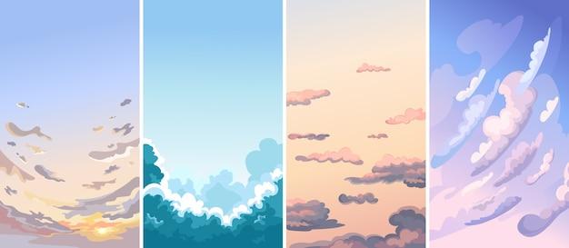 Kolekcja krajobrazów nieba