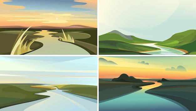 Kolekcja krajobrazów rzecznych