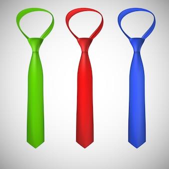 Kolekcja krawatów na szyję
