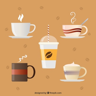 Kolekcja kreatywnych filiżanek kawy