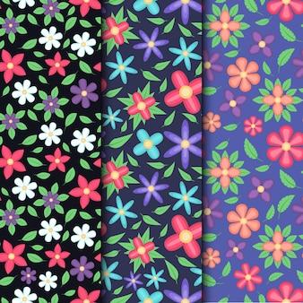 Kolekcja kreatywnych kwiatowy wzór wiosna