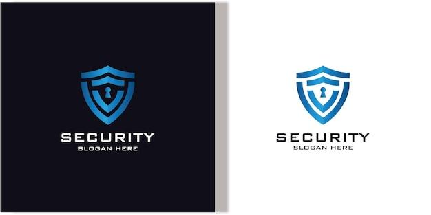 Kolekcja kreatywnych logo tarczy dla bezpieczeństwa
