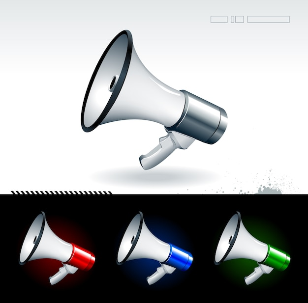 Kolekcja kreatywnych megafon