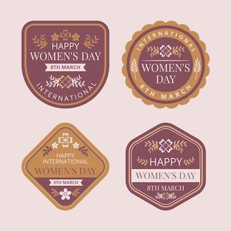 Kolekcja kreatywnych międzynarodowych etykiet na dzień kobiet