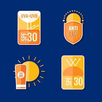 Kolekcja kreatywnych odznak ultrafioletowych