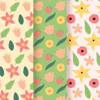 Kolekcja kreatywnych wiosennych wzorów
