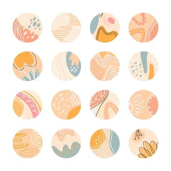 Kolekcja kreatywnych wyróżnień na instagramie
