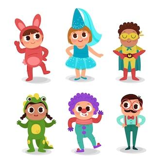 Kolekcja kreskówka karnawał dla dzieci