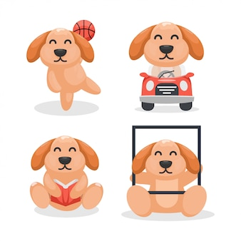 Kolekcja kreskówka maskotka pies