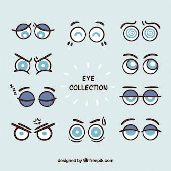 Kolekcja kreskówki okrągłych oczach