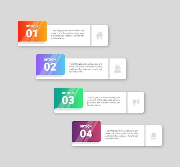 Kolekcja kroków infographic