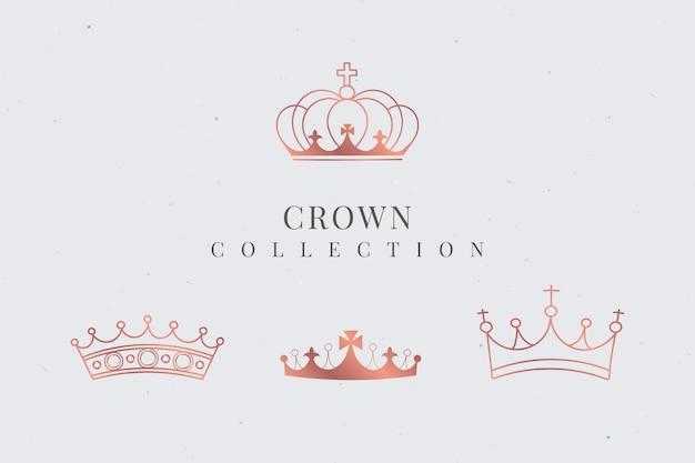 Kolekcja królewskiej korony
