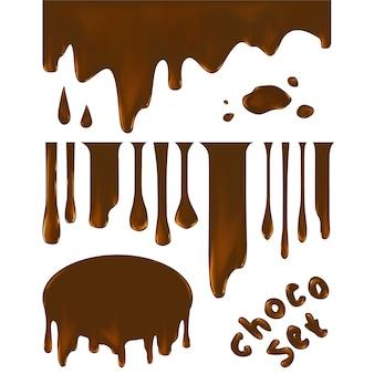 Kolekcja kształtów czekolady