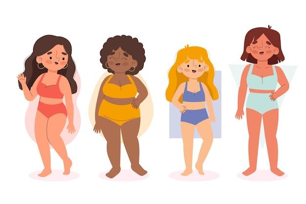 Kolekcja kształtów kobiecego ciała