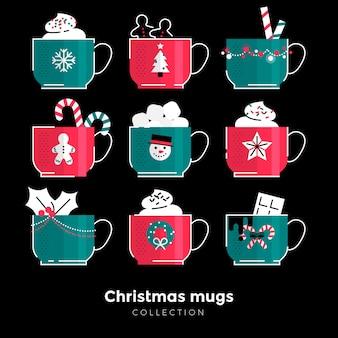 Kolekcja kubków świątecznych
