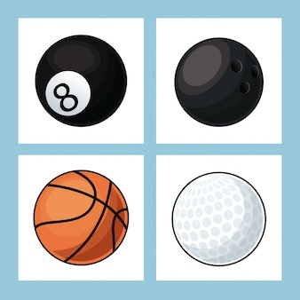 Kolekcja kulki sportowe ikony