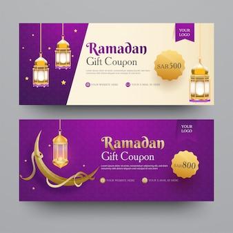 Kolekcja kuponu upominkowego ramadan z inną ofertą rabatową,