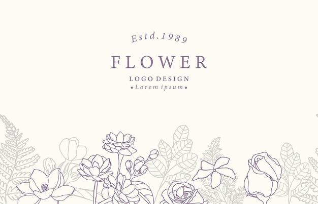 Kolekcja kwiat tła z jaśminu, róży