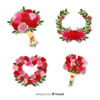 Kolekcja kwiatów bukiet