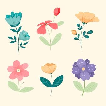 Kolekcja kwiatów vintage wiosna
