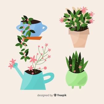 Kolekcja kwiatów wiosennych