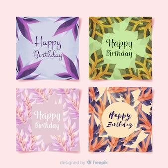 Kolekcja kwiatowy kartka urodzinowa