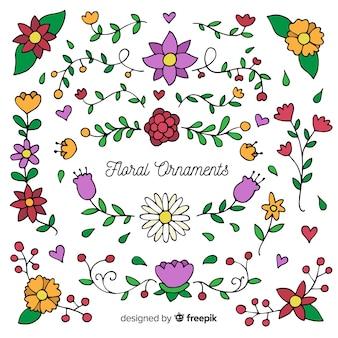 Kolekcja kwiatowy ornament