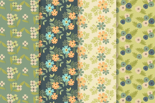 Kolekcja kwiatowy wzór wiosny