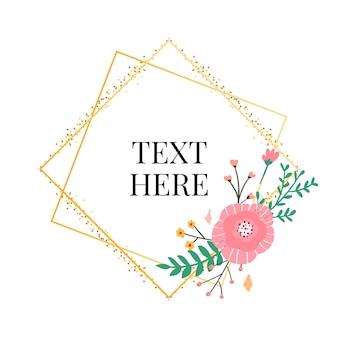 Kolekcja kwiatowych ramek. zestaw ślicznych kwiatów retro ułożonych w kształt wieńca idealnego na zaproszenia ślubne i kartki urodzinowe