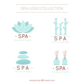 Kolekcja ładne logo do spa