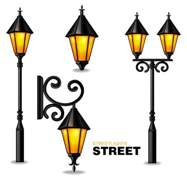 Kolekcja latarni ulicznych