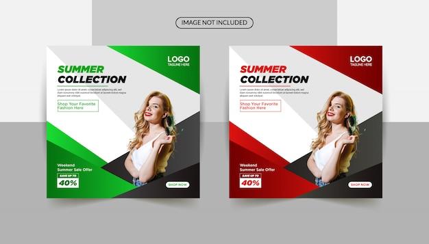Kolekcja letnia 40% rabatu sprzedaż szablon transparent