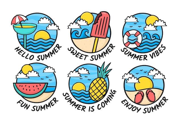 Kolekcja letnich etykiet