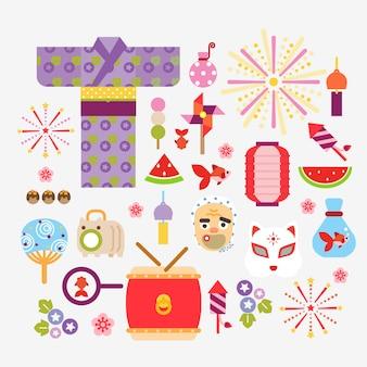 Kolekcja letnich festiwali w japonii