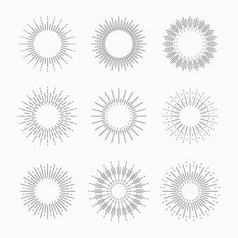 Kolekcja linear flat sunburst