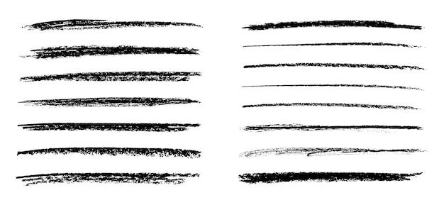 Kolekcja linii malowania grunge