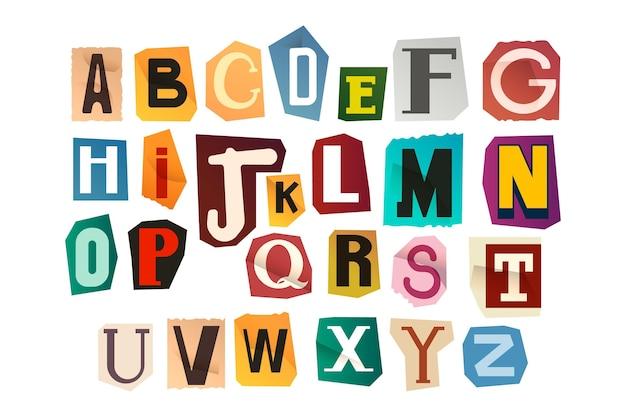 Kolekcja listów z listem okupu w stylu papieru