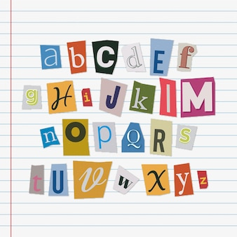 Kolekcja listów z notatkami o okupie w stylu papieru