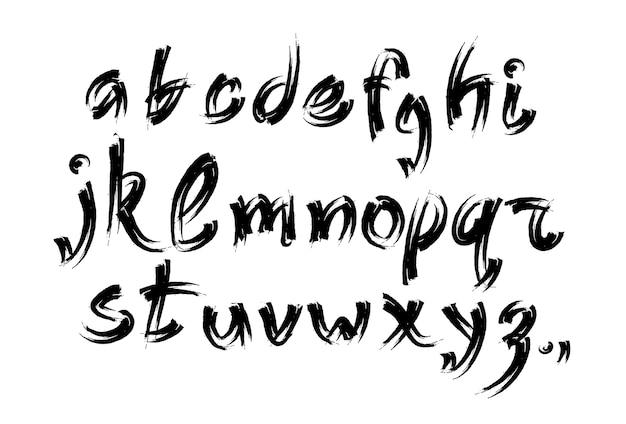 Kolekcja liter alfabetu