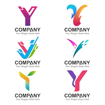 Kolekcja liter y logo design
